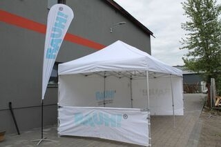 Rannalipp 4,3m ja 3x6m pop up telk