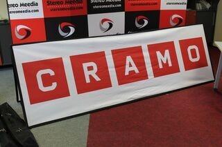 Kahepoolne reklaam Cramo 3x1m