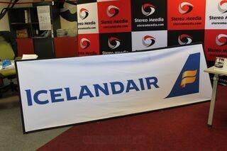 Icelandair 3x1m advertisement banner