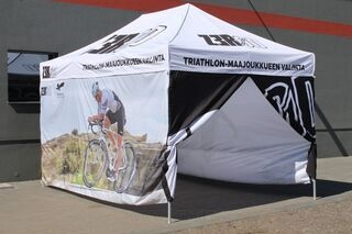 3x4x,5m pop up tent with custom print