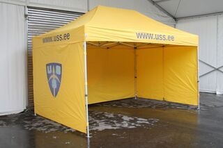 3x4,5m pop up tent with USS.ee logo